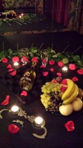 Champaign and Flower Arrangement im Secret Islands